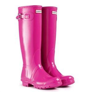 HUNTER Original High Gloss Boot Size 6
